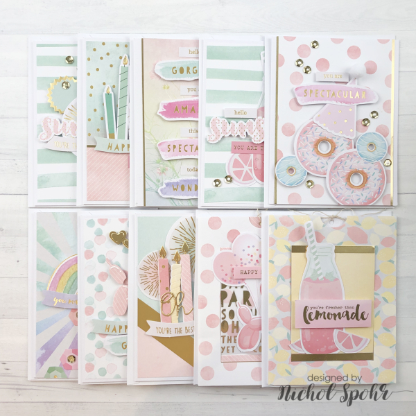 SPELLBINDERS JUNE 2019 CARD KIT OF THE MONTH (10 CARDS) (Nichol