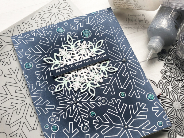 Simon Says Stamp | Layered Snowflakes Holiday Card (Nichol ...