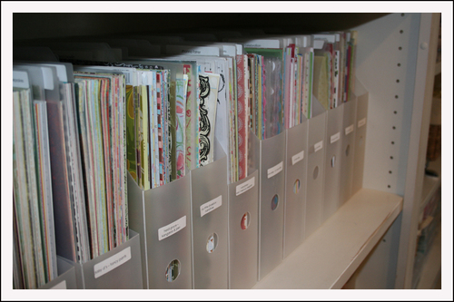 Patterned Paper Vertical Files